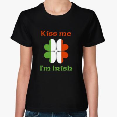Женская футболка Kiss me, I'm Irish