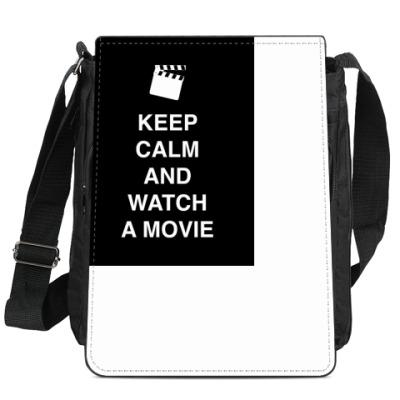 Сумка-планшет Keep calm and watch a movie