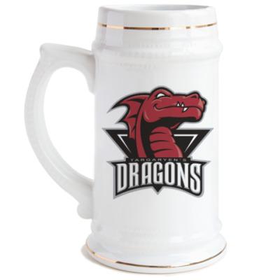 Пивная кружка Драконы Таргариен
