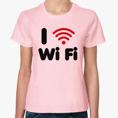 Женская футболка Люблю вай-фай