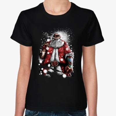 Женская футболка Большой Санта