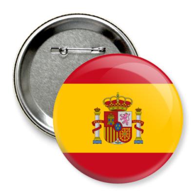 Значок 75мм Испания, Spain