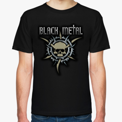 Футболка Black metal (рогатый череп)