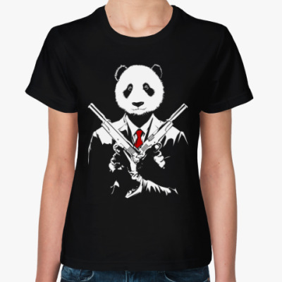 Женская футболка Панда Киллер