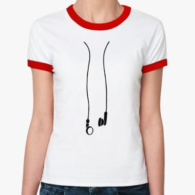 Женская футболка Ringer-T наушники