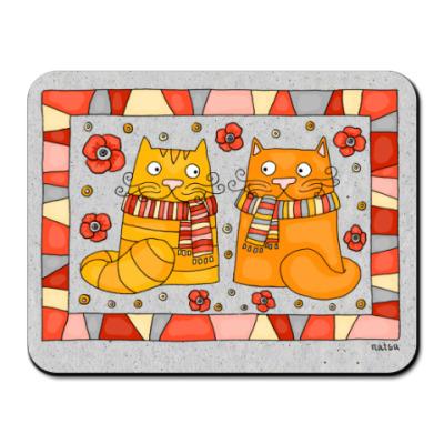 Коврик для мыши рыжие коты