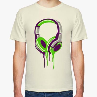 Футболка наушники  headphones
