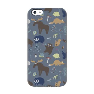 Чехол для iPhone 5c Лесные звери