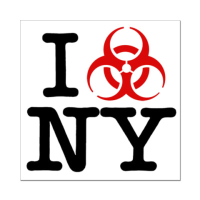 Наклейка (стикер) I love NY