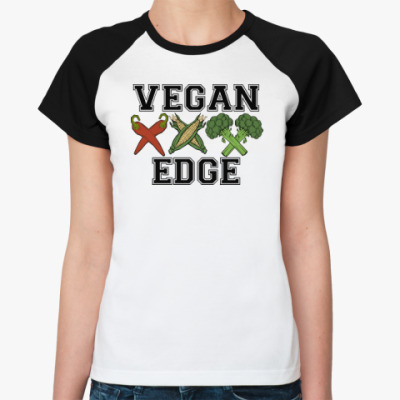Женская футболка реглан vegan XXX edge