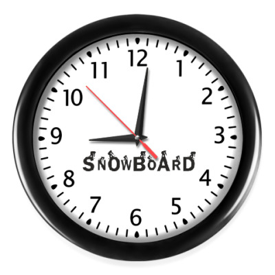 Настенные часы Snowboard