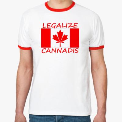 Футболка Ringer-T  Legalize Cannadis