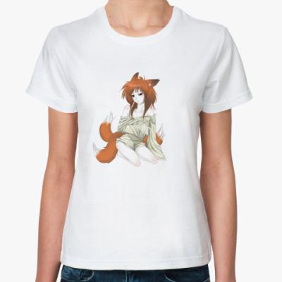 Классическая футболка Kitsune