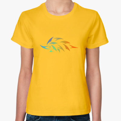 Женская футболка Еж