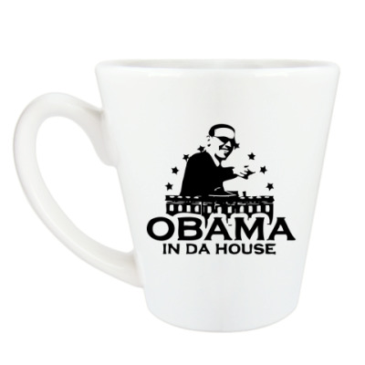 Чашка Латте OBAMA IN DA HOUSE