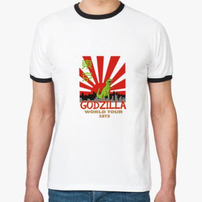 Футболка Ringer-T Годзилла