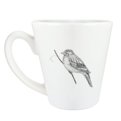 Чашка Латте Пташка