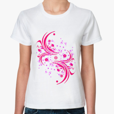 Классическая футболка Гламур