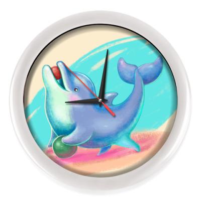 Настенные часы Дельфин - песик
