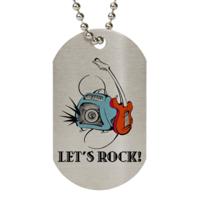 Жетон dog-tag Let's Rock!
