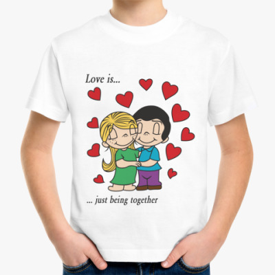 Детская футболка LOVE IS