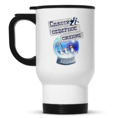Кружка-термос Елка на воде
