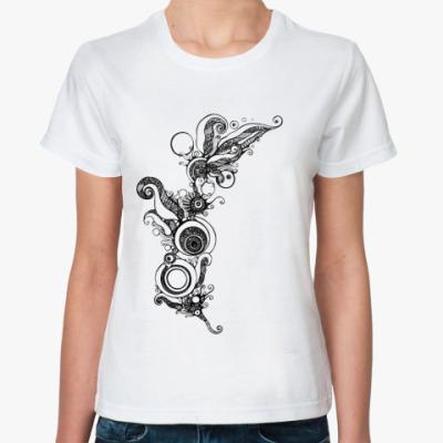 Классическая футболка  'Цветочная вязь'