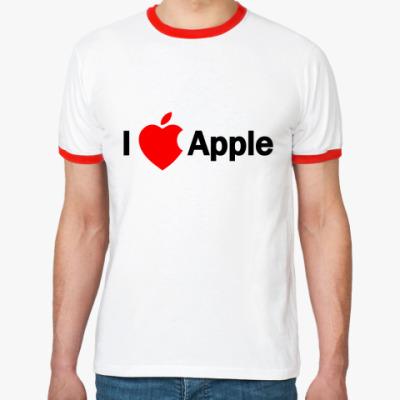 Футболка Ringer-T I love apple