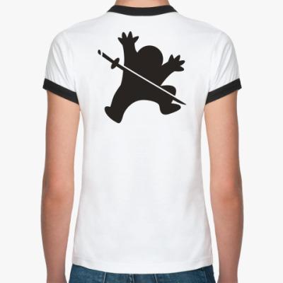 Женская футболка Ringer-T Ниндзя