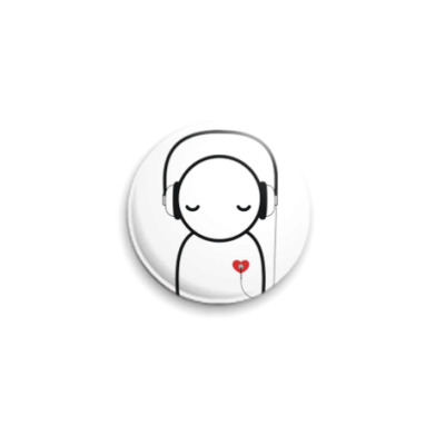 Значок 25мм No music - no life pin