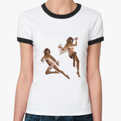 Женская футболка Ringer-T АНГЕЛЫ