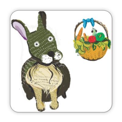 Костер (подставка под кружку) Плюшевый кролик