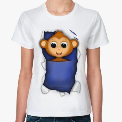 Классическая футболка Обезьянка