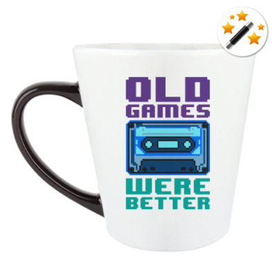 Кружка-хамелеон Oldschool games were better