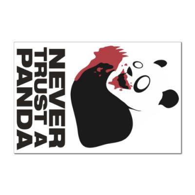 Наклейка (стикер) Никогда не верь панде