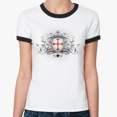 Женская футболка Ringer-T Орден Тамплиеров