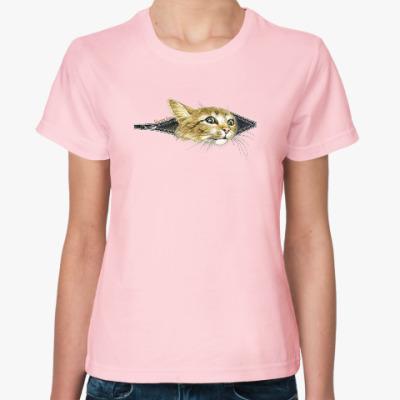 Женская футболка Внутренний Кот