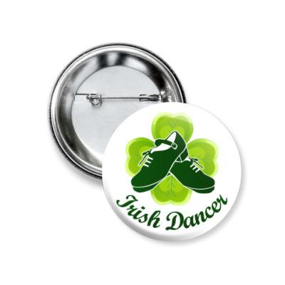 Значок 37мм Irish Dancer