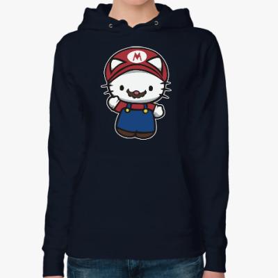 Женская толстовка худи Китти Марио