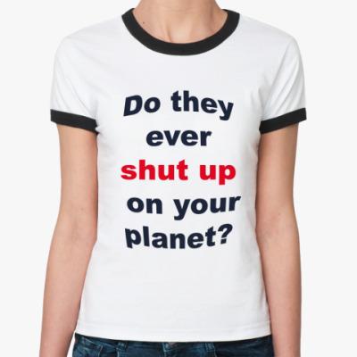Женская футболка Ringer-T Сарказм