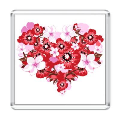 Магнит Цветочное сердце