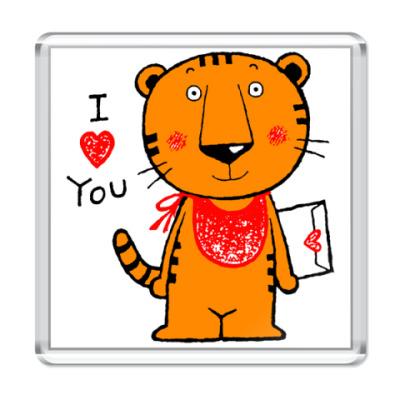 Магнит  Влюблённый Тигр