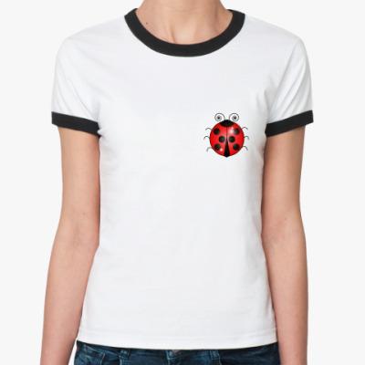Женская футболка Ringer-T Божья коровка