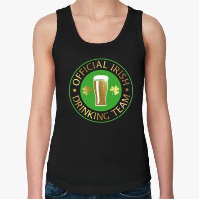Женская майка Irish drinking team