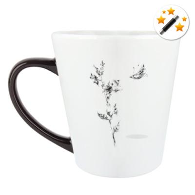 Кружка-хамелеон Странный цветок и Летучий Мыш