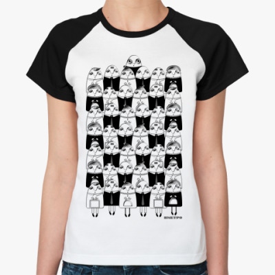Женская футболка реглан ВМЕТРО