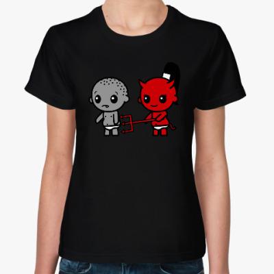 Женская футболка Детки