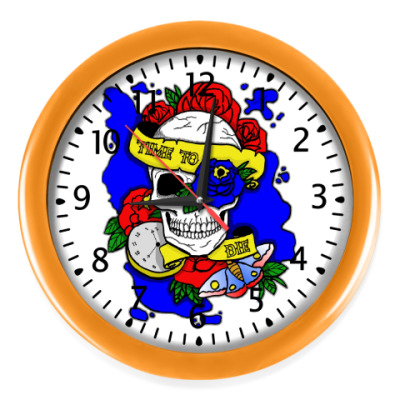 Настенные часы Череп Time to Die