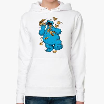 Женская толстовка худи Cookie Monster
