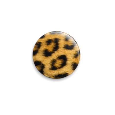 Значок 25мм Шкура леопарда